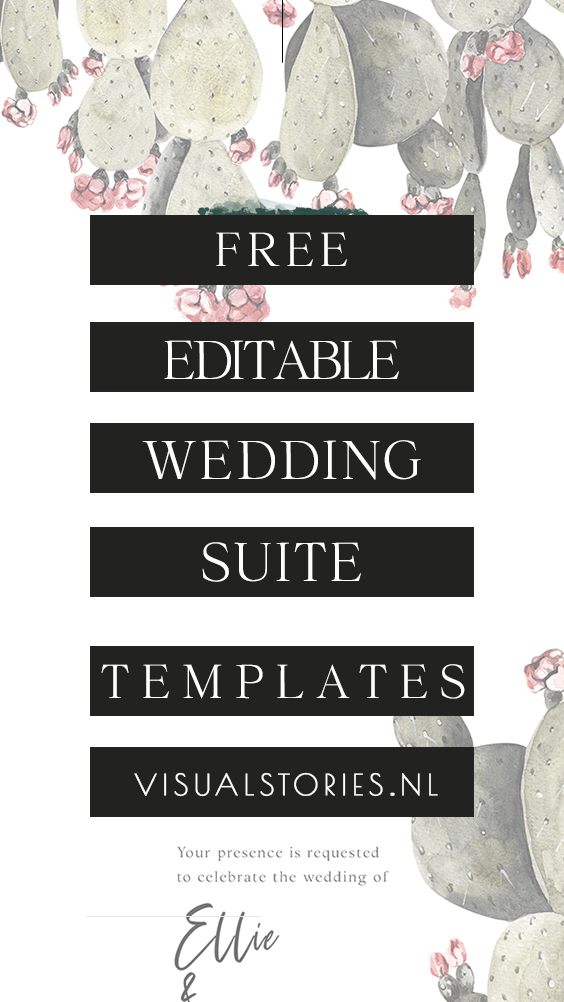 FREE EDITABLE WEDDING SUITE TEMPLATE SET + FREE EDITING SERVICE